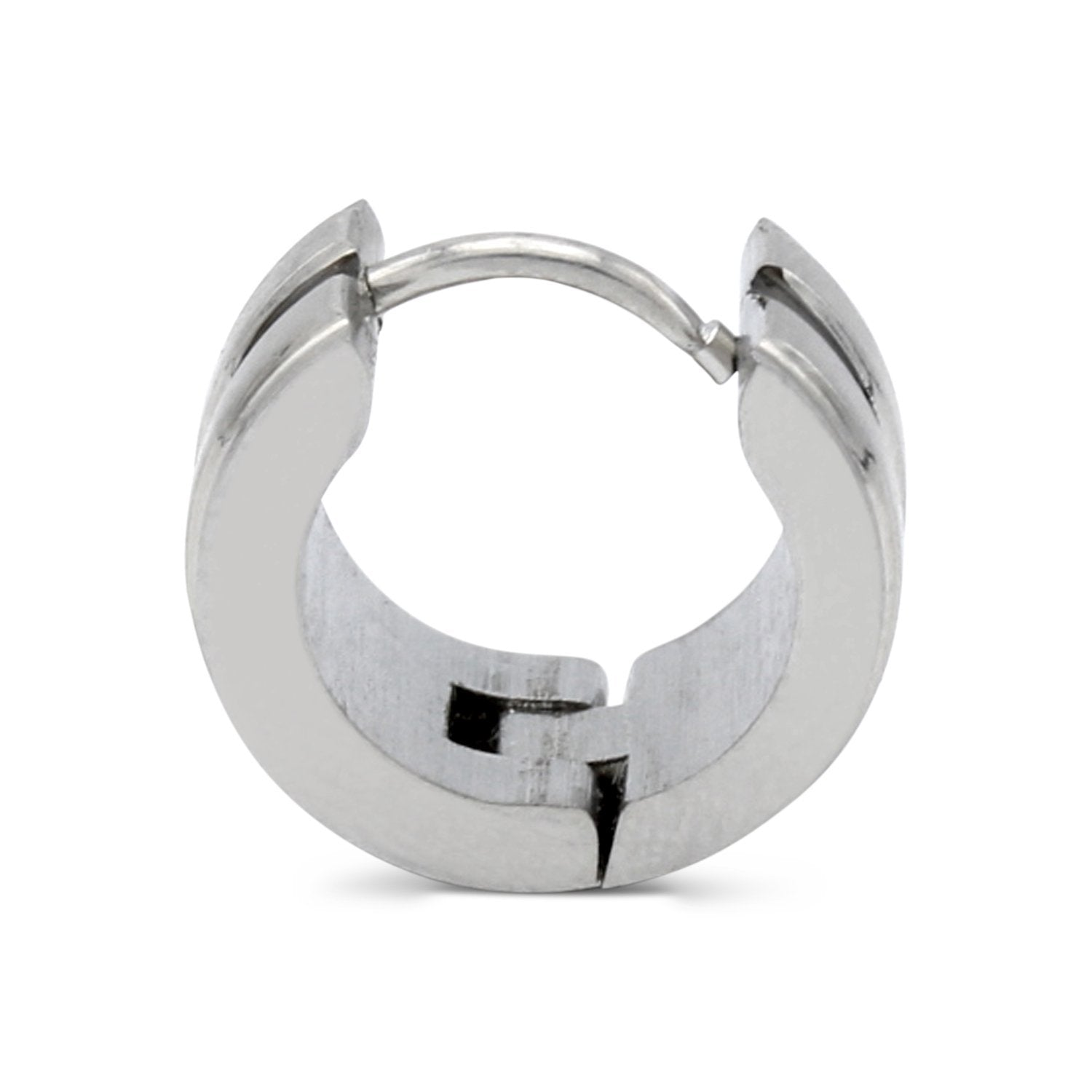 Huggie Wide Hoop Earrings Stainless Steel Fashion Jewelry