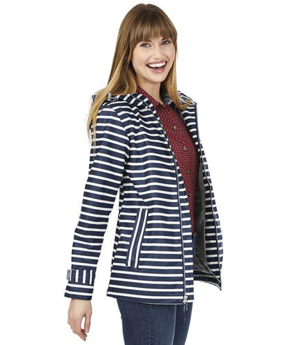 Women's New Englander Striped Rain Jacket