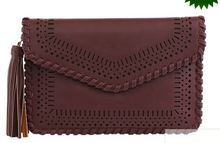 Envelope Clutch/Crossbody Bag with Tassel