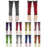 Ladies Girls Stripe Striped Legwarmers For Tutu Hen Flo Fancy Dress Party - One Size Fits All - Accessory