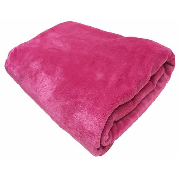 soft mink blanket throws colour pink