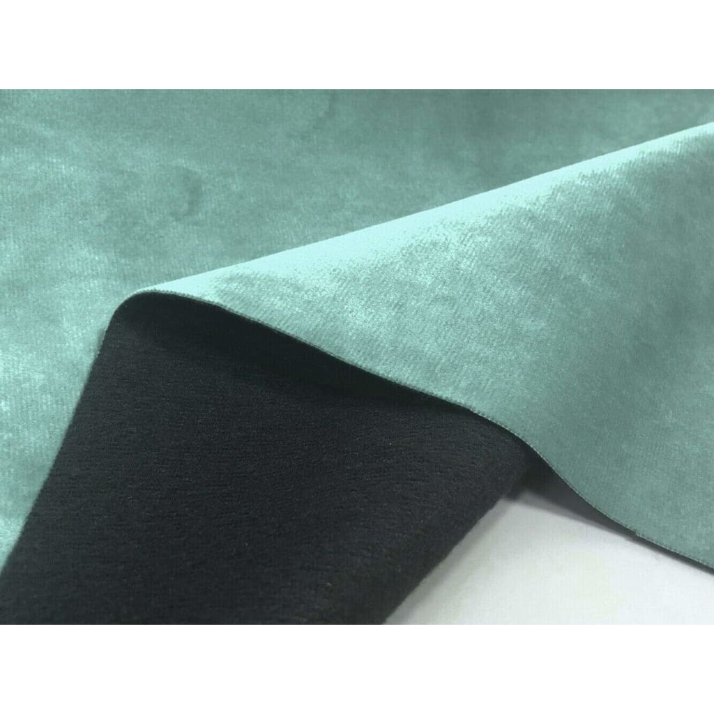 Plain Soft Velvet Fabric Faux Suede Upholstery Dressmaking Curtain Blind Cushion Craft Velour Material - Turquoise - Fabric