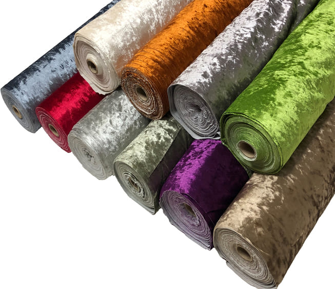 Premium Crushed Velvet Fabric Curtains Material Dressmaking Upholstery