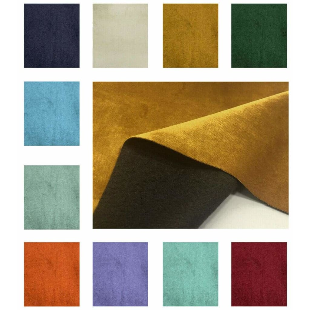 Plain Soft Velvet Fabric Faux Suede Upholstery Dressmaking Curtain Blind Cushion Craft Velour Material - Fabric