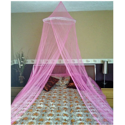 Pink Single Entry Mosquito Net Canopy Fly Romantic Net Netting For Single Double King Size Bed - Mosquito Canopy Net