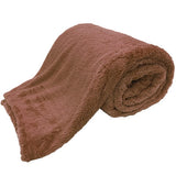 teddy blankets bed throws - brown