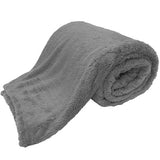 teddy blankets bed throws - grey