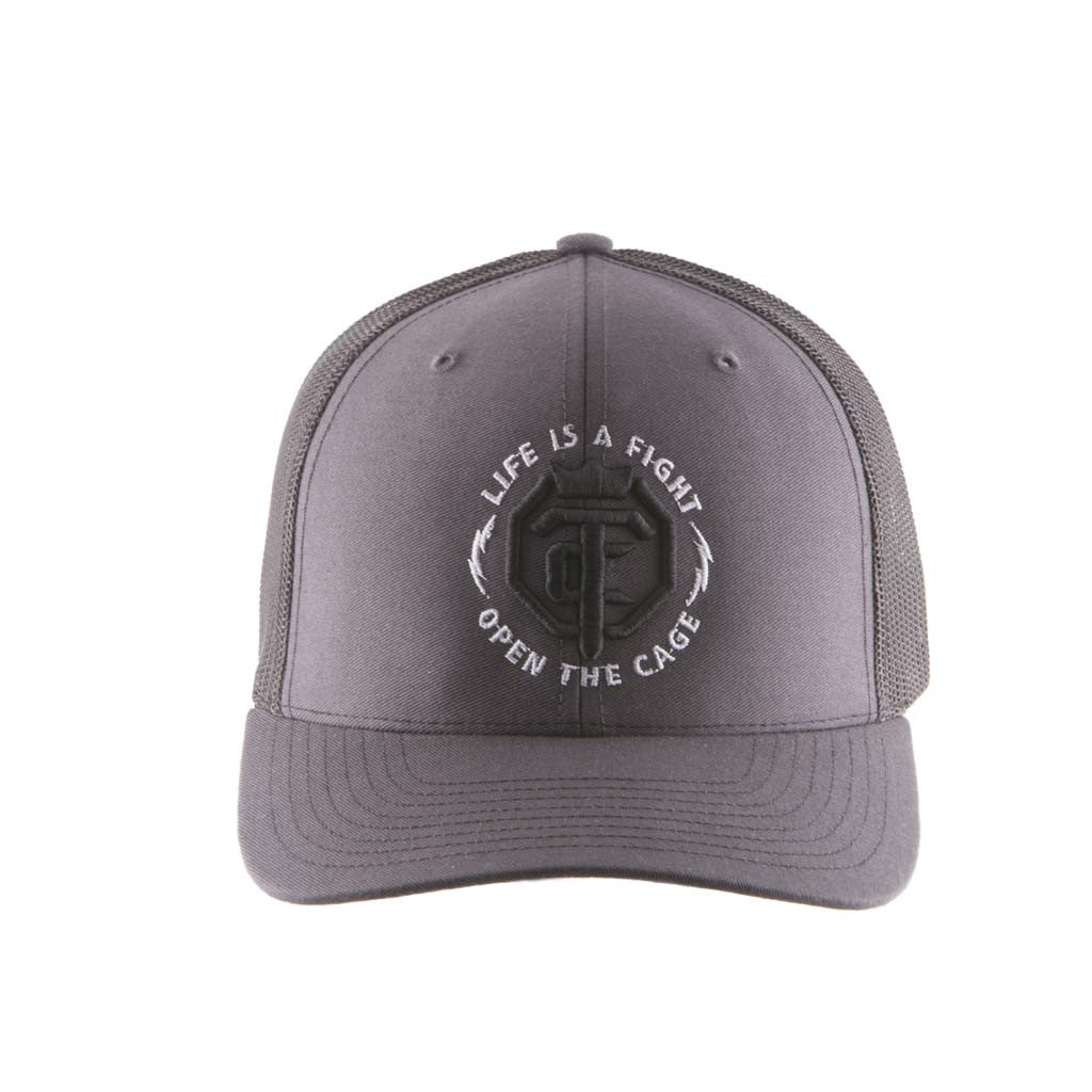 OTC Gray Black Trucker Mesh Snap-Back Hat