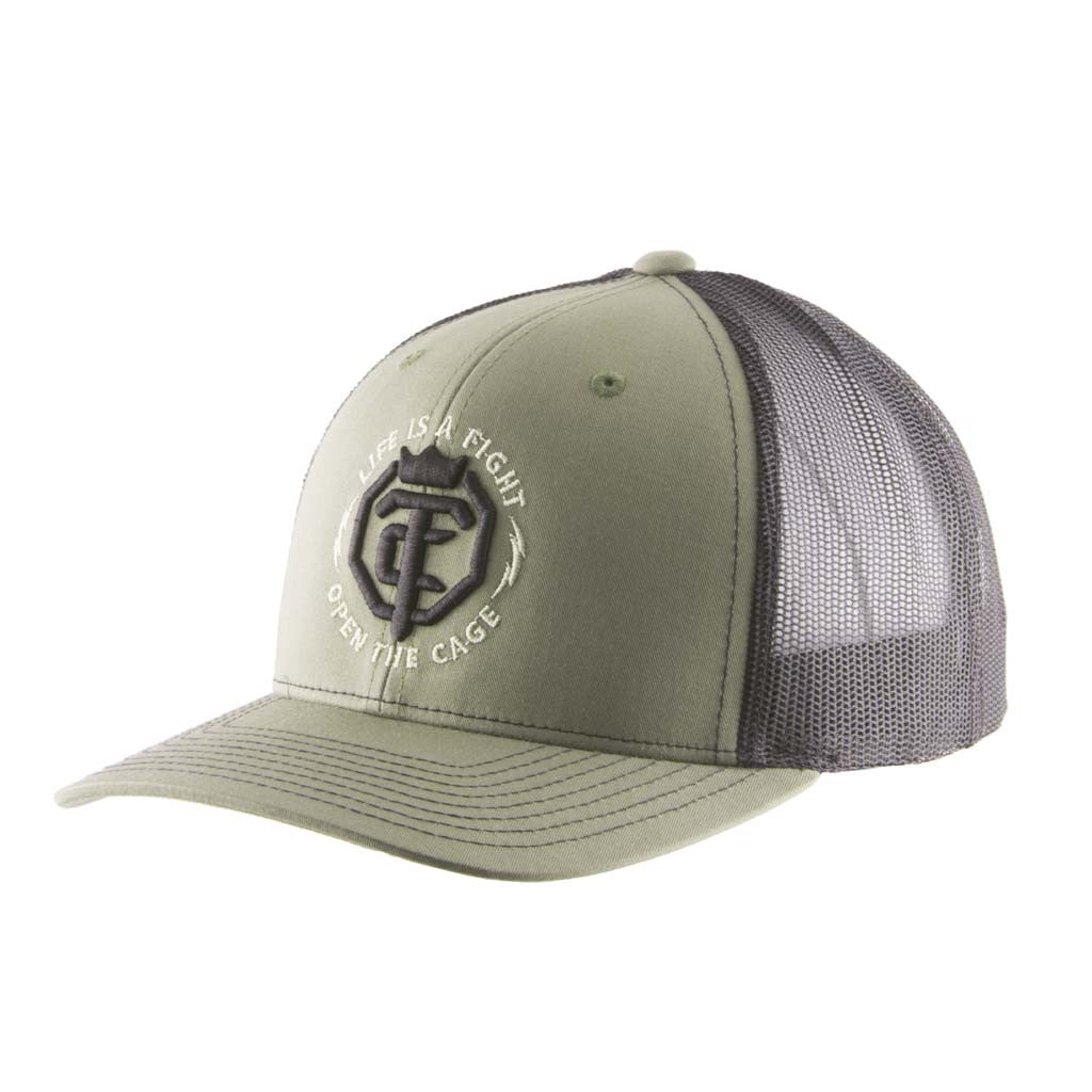 OTC Loden Green Black Trucker Mesh Snap-Back Hat