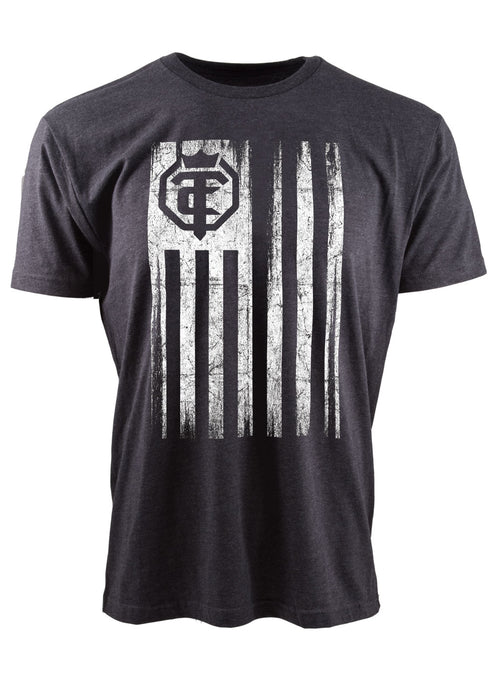 Open The Cage - Flag Charcoal Men's Tee