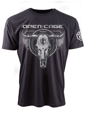 Open The Cage - Priefert - Spur Heather Sage Men's Tee
