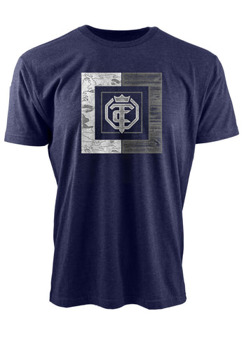 Open The Cage - Priefert - Anniversary Midnight Navy Men's Tee