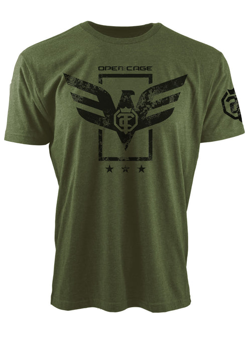 Open The Cage - Soar Military Green Youth Tee