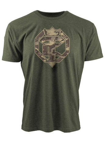 Open The Cage - Men's Military Tee Heather Green - Militia
