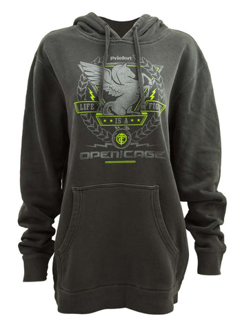 Open The Cage - Priefert - Men's Whiskey Charcoal Hoodie