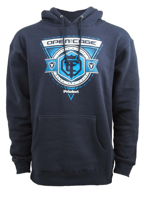 Open The Cage - Priefert - Men's Roper Slate Blue Hoodie