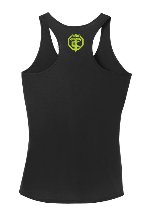 Open The Cage - Defender - Black - Women's Racer Back Tank
