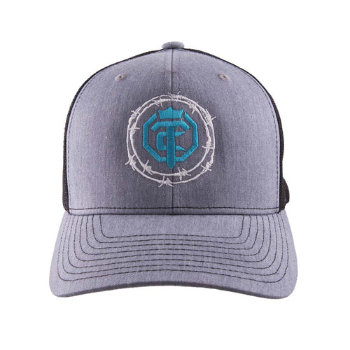Priefert - OTC - Gray Ghost HC - Heathergrey-Black - Turqoise-White-Gray Mesh Snap-Back Hat