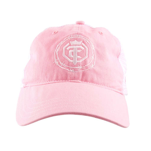 Priefert - OTC - Pink Lady - Pink-White-Teal Mesh Snap-Back Hat
