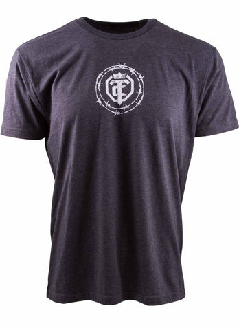 Open The Cage - Priefert - Men's Roper Tee Shirt - Dark Blue
