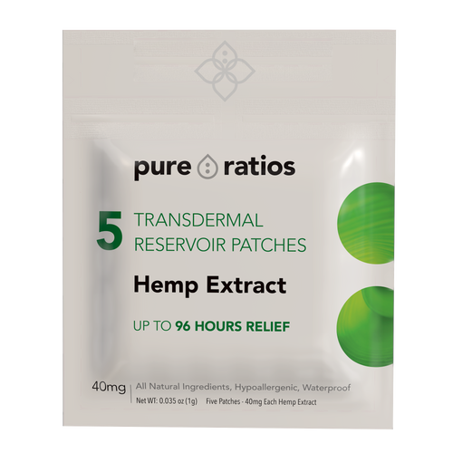 96 Hour Transdermal CBD Patch x5 (40mg each)