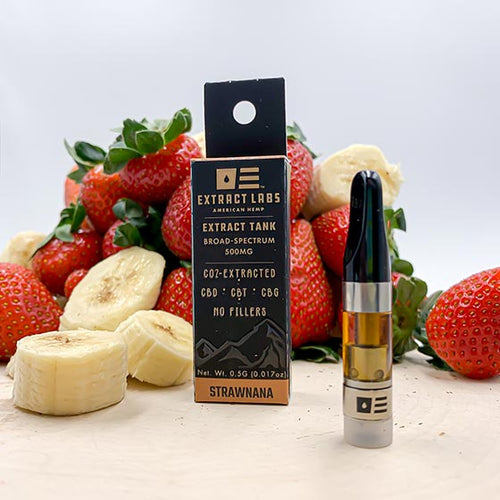 Strawnana CBD/CBT/CBG Vape Cartridge 500mg