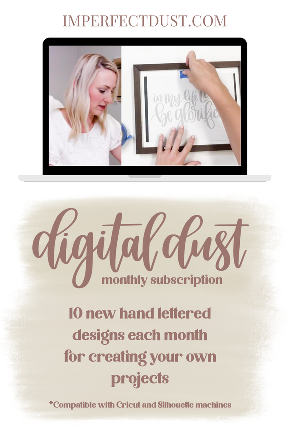 Digital Dust | A Subscription for Creating Your Own Hand-Lettered Designs
