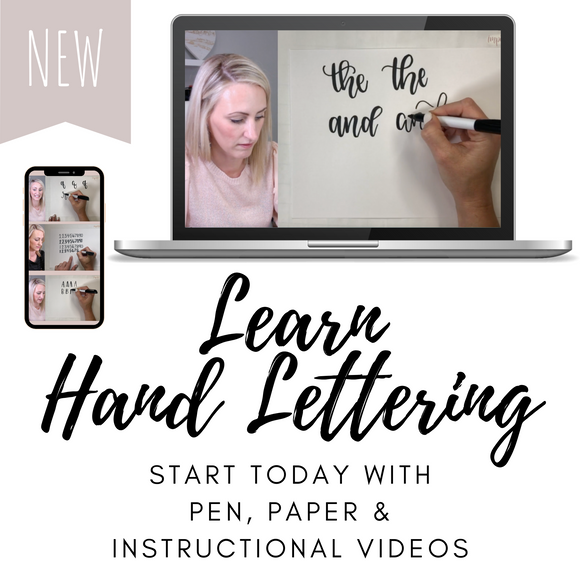 Online Hand Lettering Class