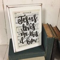 Jesus Loves Me - Hymn Board