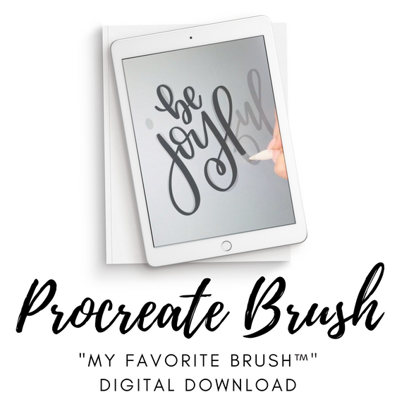 My Favorite Brush™️| Digital Procreate Calligraphy Brush