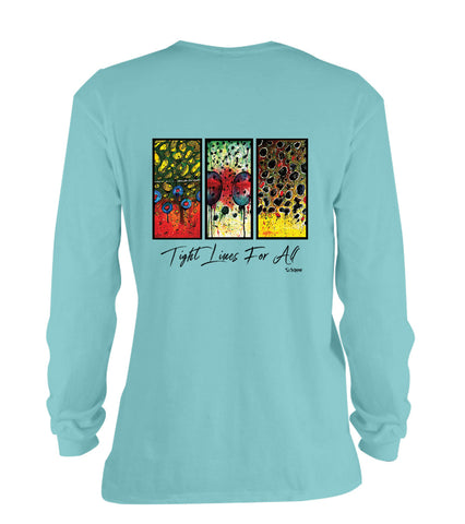 AMP Cotton Long Sleeve - Trout Trio Flank