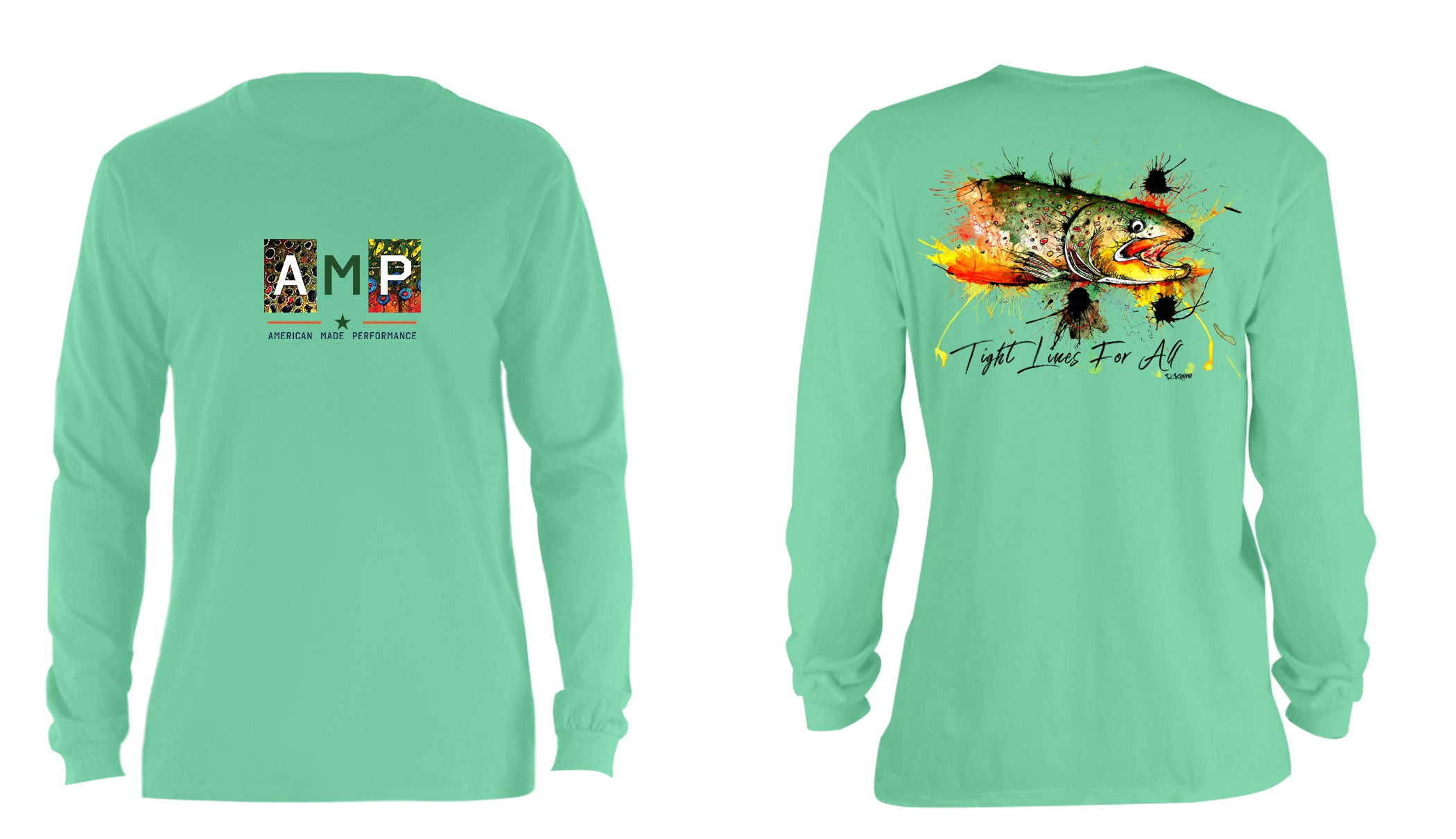 AMP Cotton Long Sleeve - Brown Trout