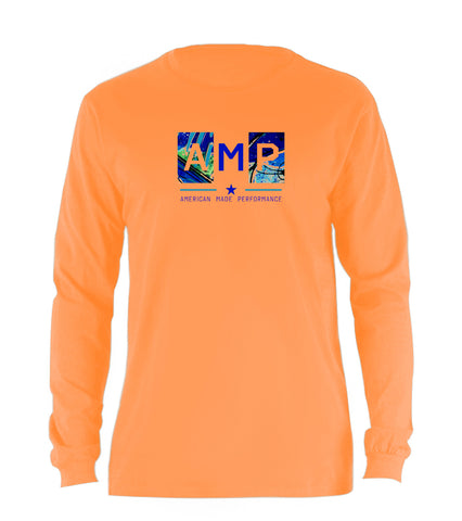 AMP Cotton Long Sleeve - Blue Marlin