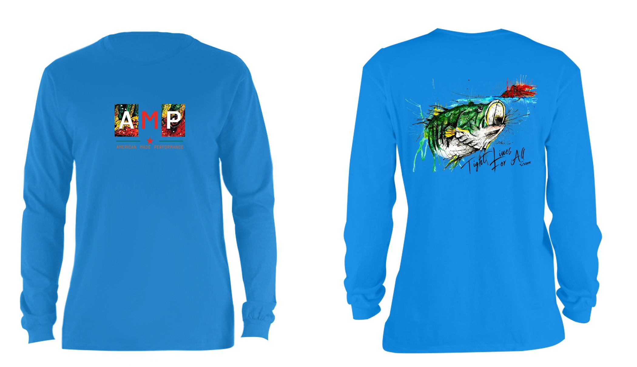 AMP Cotton Long Sleeve - Largemouth Bass