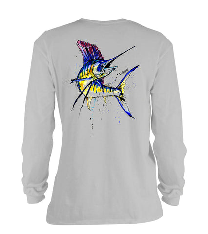 AMP Cotton Long Sleeve - Sailfish