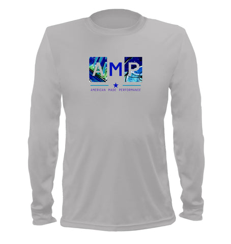 AMP Performance Long Sleeve - Blue Marlin