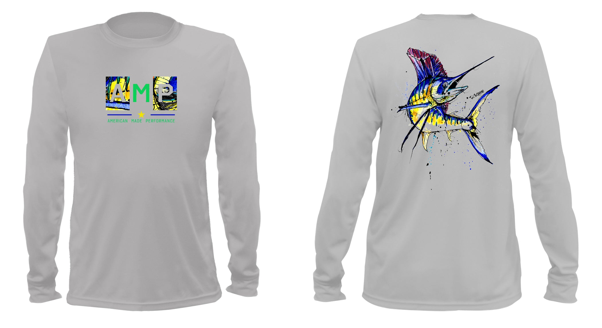 AMP Performance Long Sleeve - Sailfish