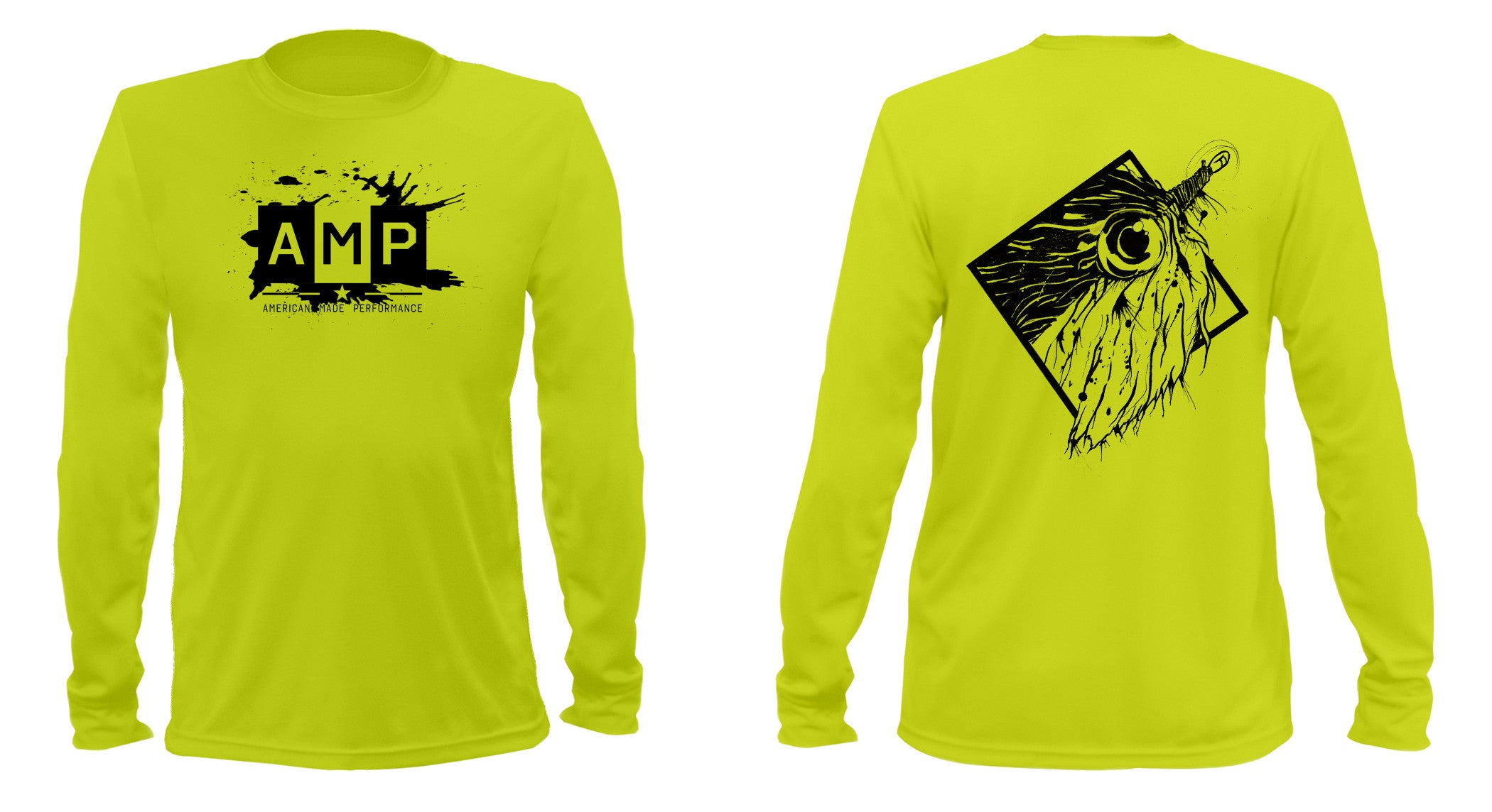 AMP Performance Long Sleeve - Peanut Butter Fly