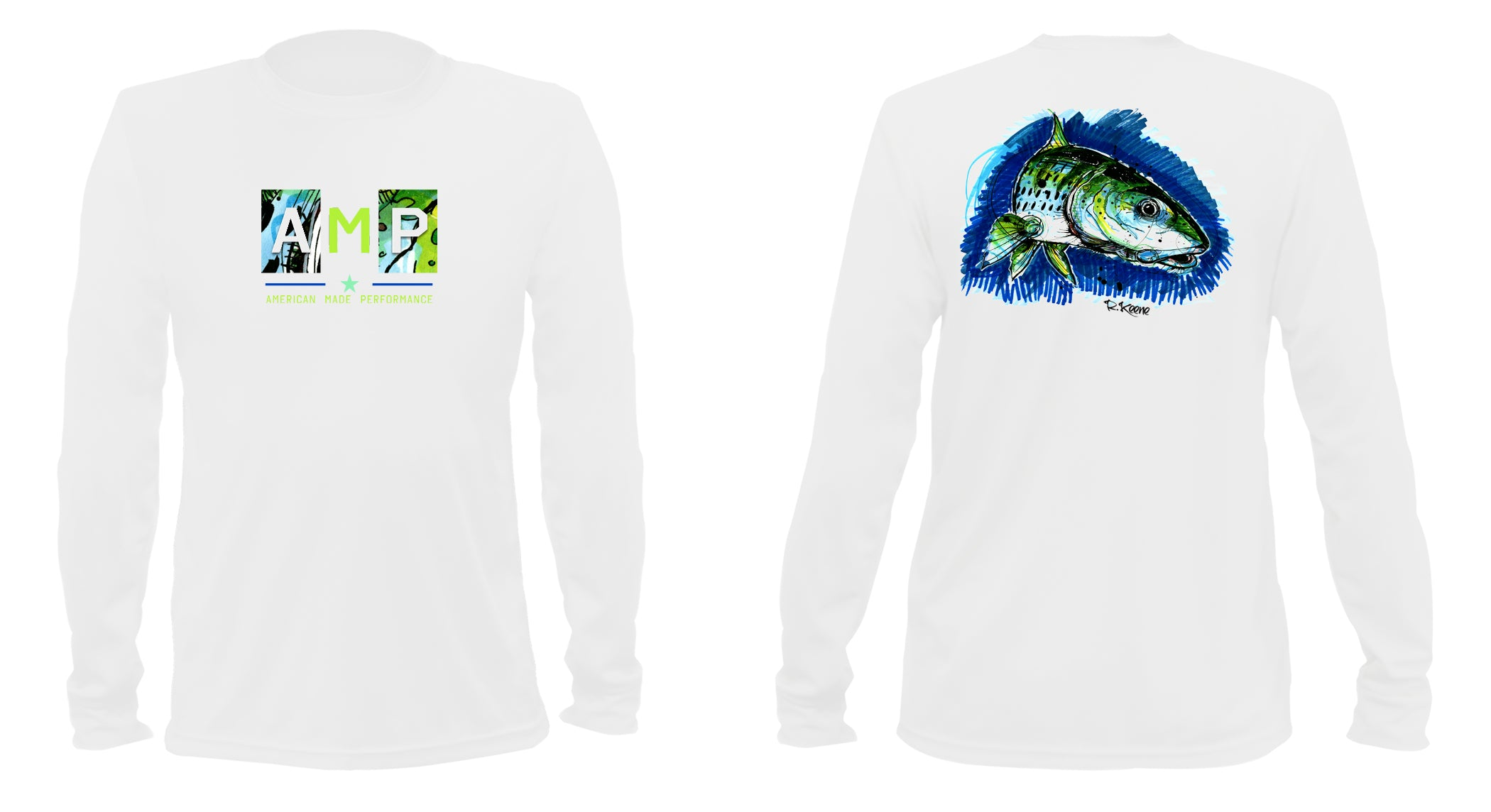 AMP Performance Long Sleeve - Bonefish