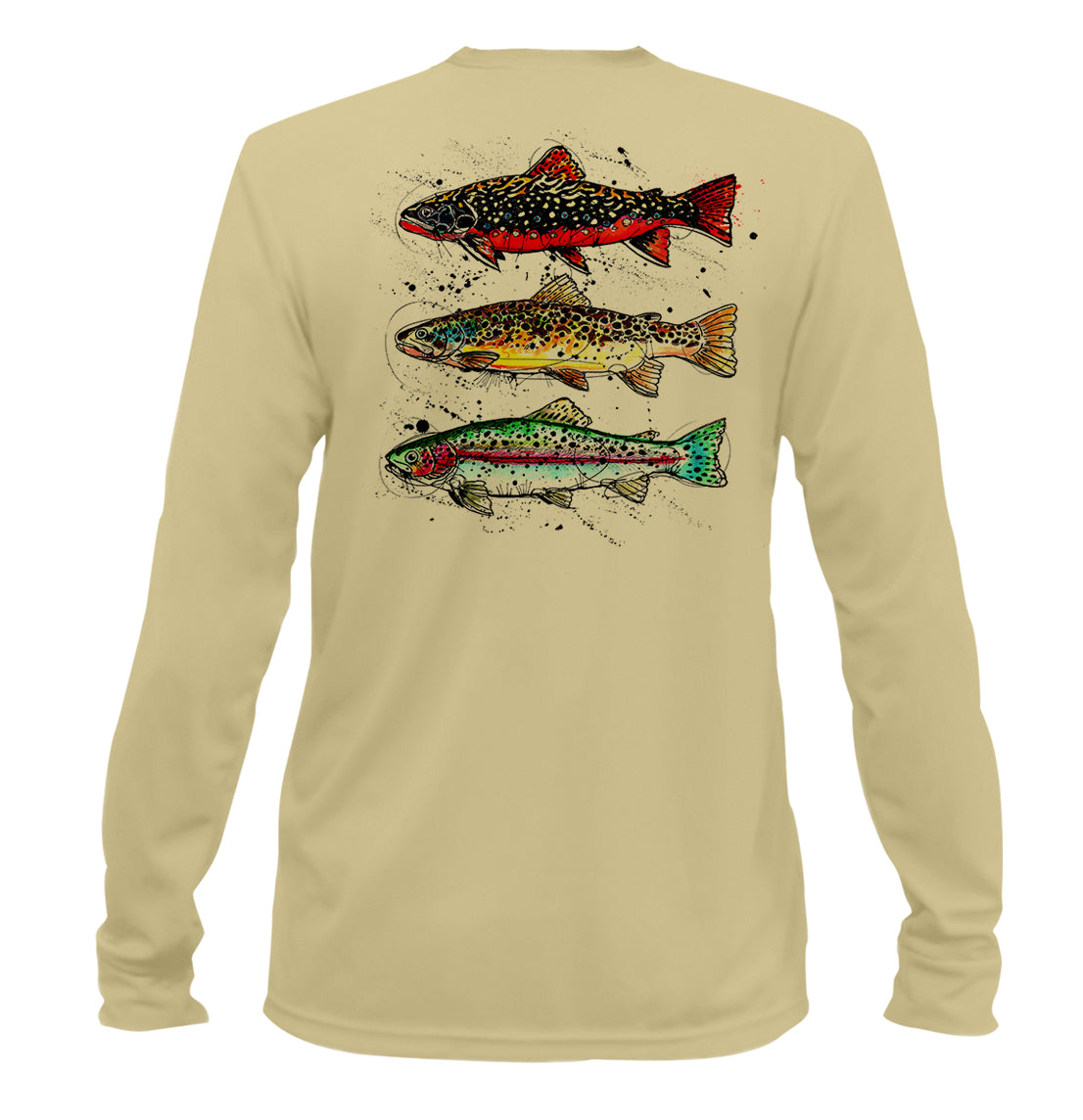 AMP Performance Long Sleeve - Trout Trifecta