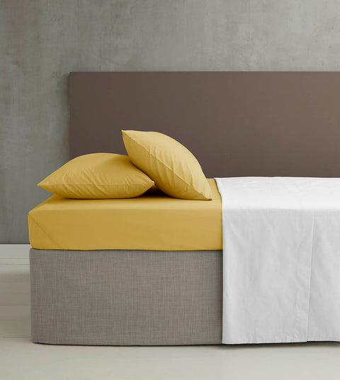 Catherine Lansfield Non Iron So Soft Percale Ochre Sheets