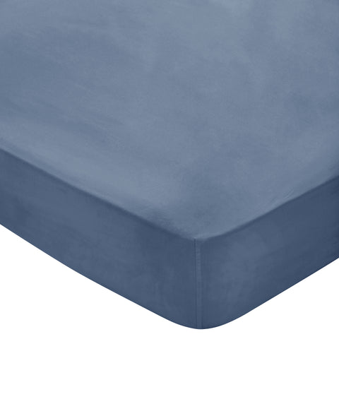 Bedeck of Belfast Fine Linens 100% Egyptian Cotton Percale 300 Thread Count Denim Sheets