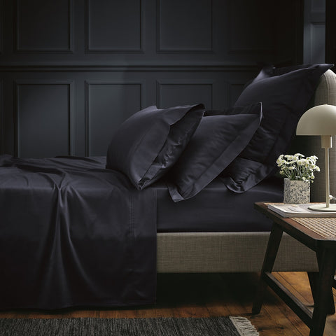 Bedeck of Belfast Fine Linens 100% Egyptian Cotton Sateen 600 Thread Count Midnight Sheets