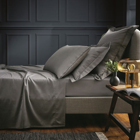 Bedeck of Belfast Fine Linens 100% Egyptian Cotton Sateen 600 Thread Count Grey Sheets