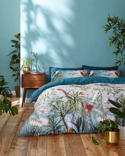 Accessorize Birds of Paradise Teal Quilt Set