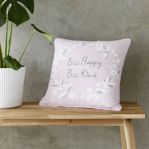 "Catherine Lansfield Bee Kind 17"" x 17"" Filled Cushion"