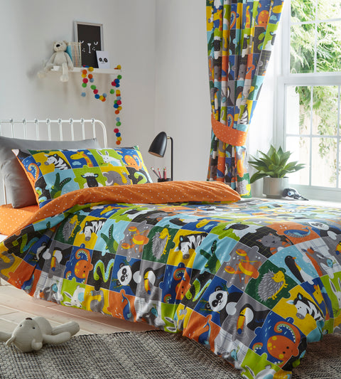 Portfolio Home Kids Animal Jigsaw Multi Bedding