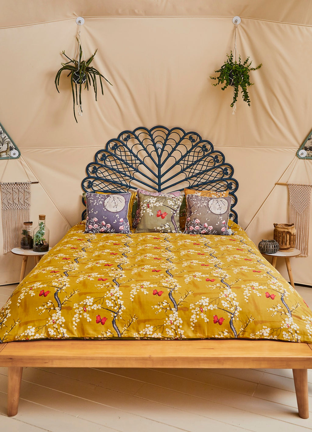 The Chateau Collection Blossom Digi Ochre/Basil Quilt Set by Angel Strawbridge