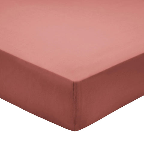 Bedeck of Belfast 100% Pima Cotton Percale 200 Thread Count Marsala Sheets