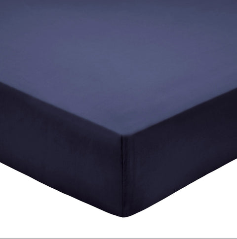 Bedeck of Belfast 100% Pima Cotton Percale 200 Thread Count Midnight Sheets